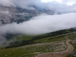 Mein privater Zugspitzlauf - Berg und Wolken