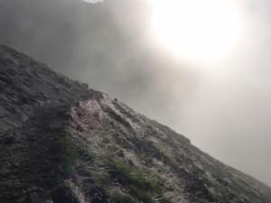 Mein privater Zugspitzlauf - die Sonne bricht durch die Wolken