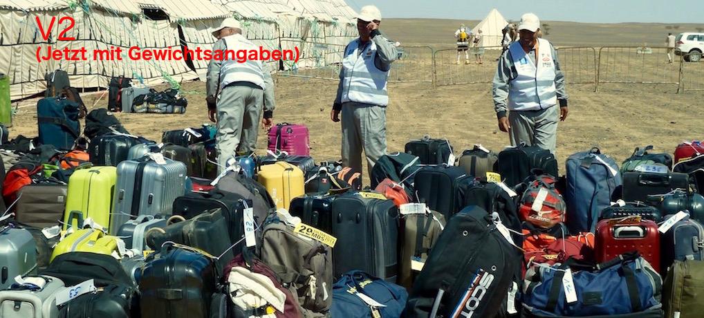 Optimale Packliste für Wüstenläufe und Etappenläufe