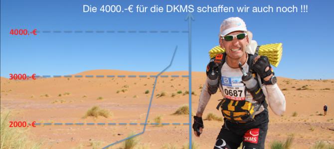4000 Euro für die DKMS schaffen wir noch
