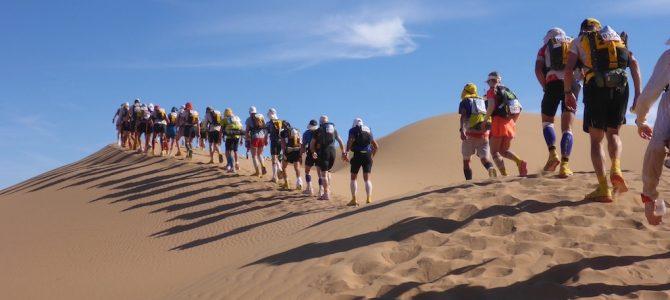 Die Marathonetappe beim Marathon des Sables