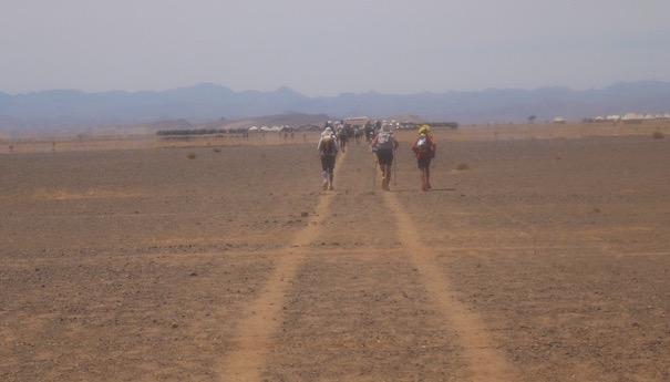 Die Marathonetappe beim Marathon des Sables - Zielgerade