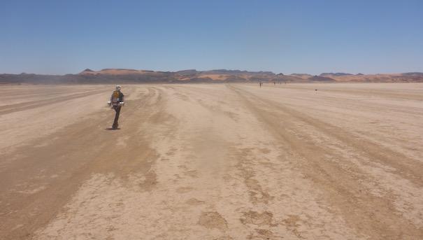 Ausgetrockneter See - Die lange Etappe beim Marathon des Sables