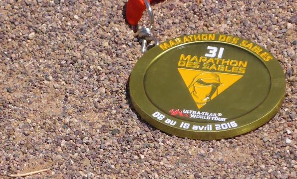 Die Unicef Etappe beim Marathon des Sables - die Medaille