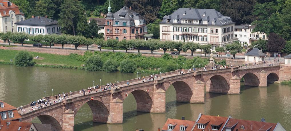 Brücke in Heidelberg am Schloss