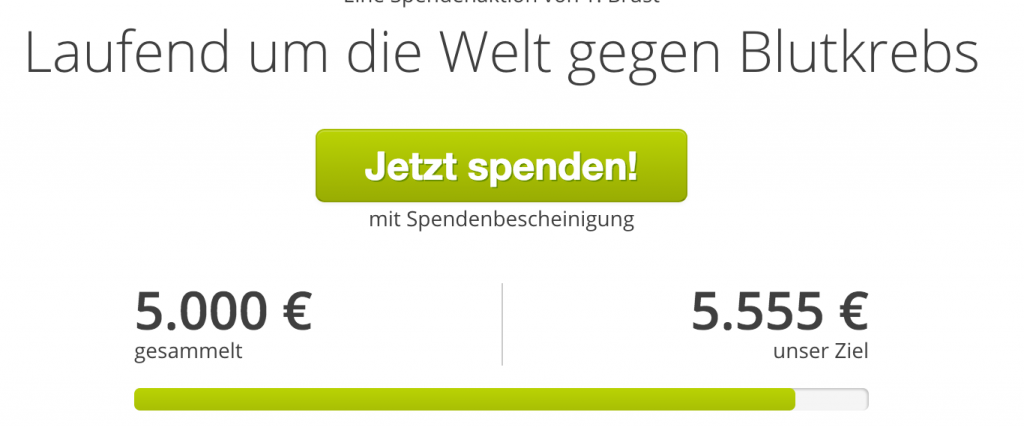 5000.-€ für die DKMS erreicht